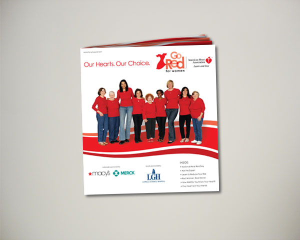 go red for women newspaper insert