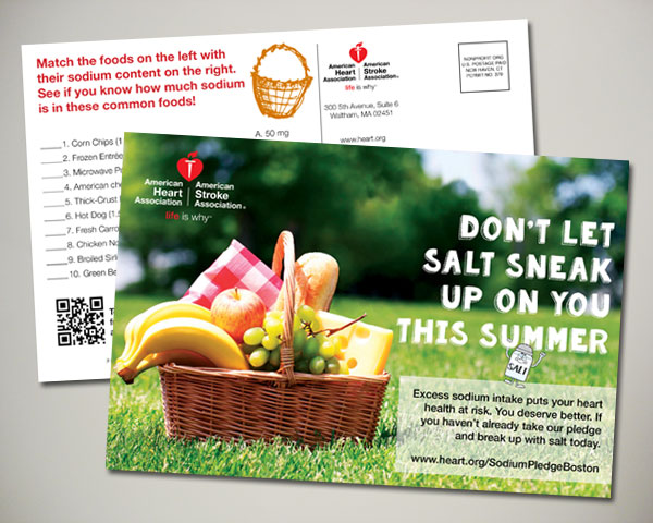 american heart association summer postcard design