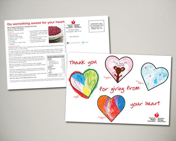 american heart association valentines day postcard design