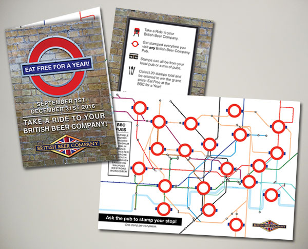 british beer company rewards program map design