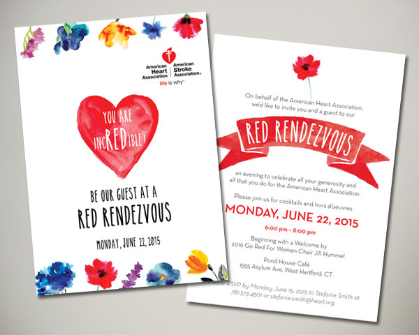 american heart association red rendezvous hartford invitation
