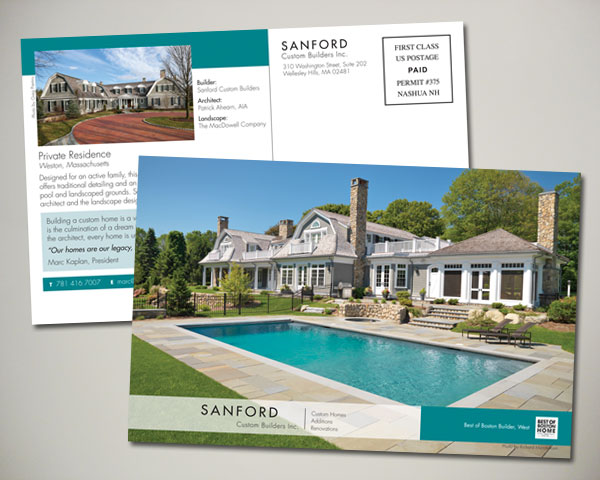 sanford custom builder postcard