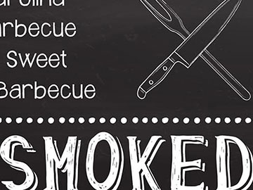 carolina barbecue bbq sign design
