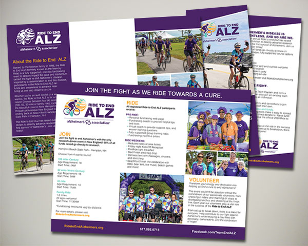 alzheimers association team end alz brochure design
