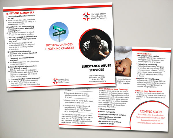 american heart association heart ride brochure design