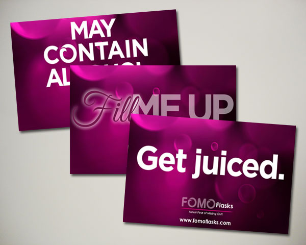 fomo flasks web banners