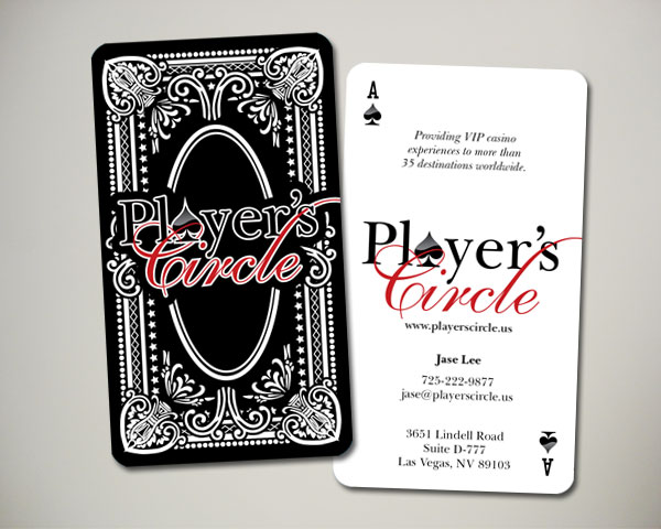 players circle casino travel business cards