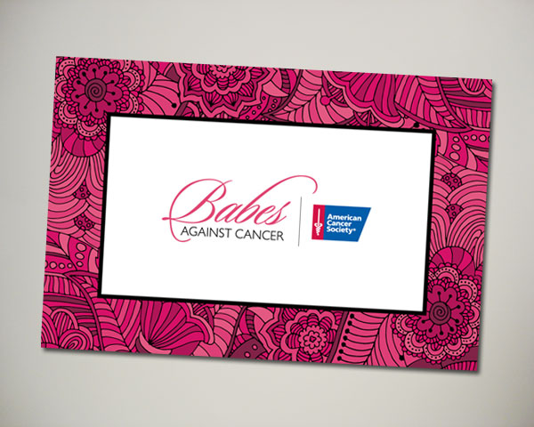 non profit babes against cancer kickoff brunch picture frame insert design