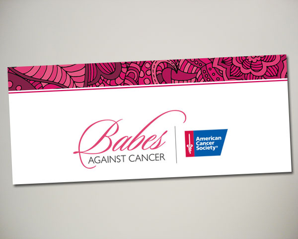 non profit babes against cancer kickoff brunch web banner design