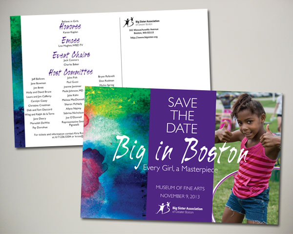 big in boston save the date postcard