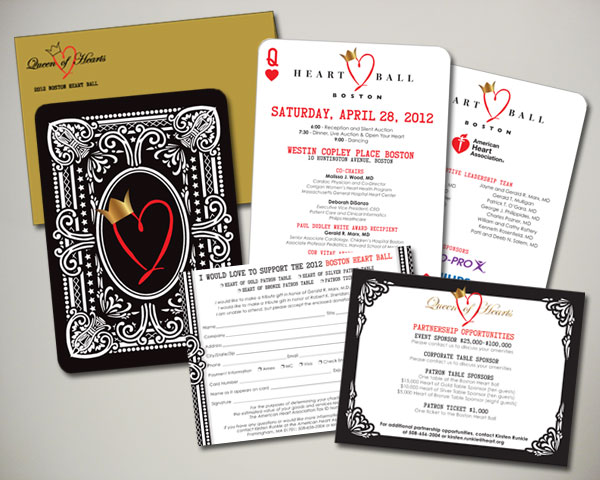boston heart ball invitation