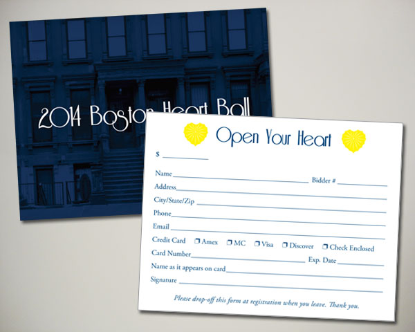 boston heart ball open your heart card