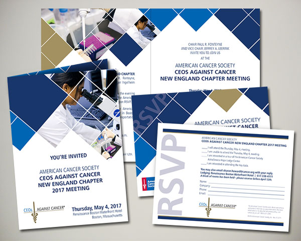 non profit ceos against cancer invitation design