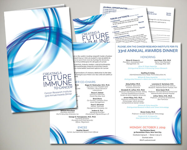 cancer research institute awards dinner gala invitation