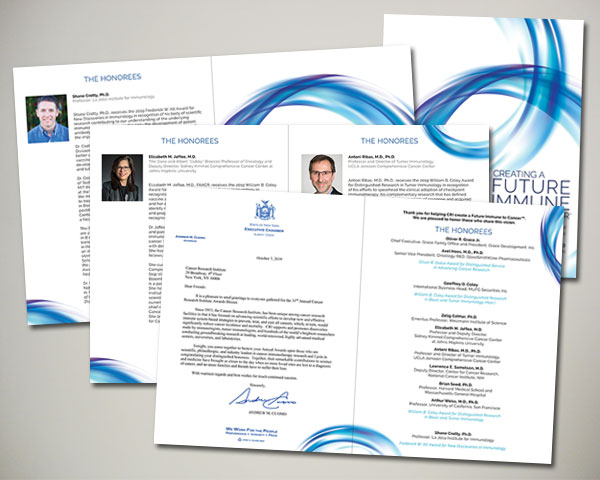 cancer research institute awards dinner gala program journal