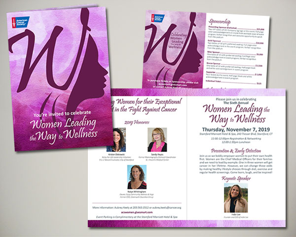 american cancer society non profit women leading the way to wellness luncheon invitation