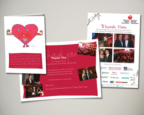 central ma heart stroke ball thank you card