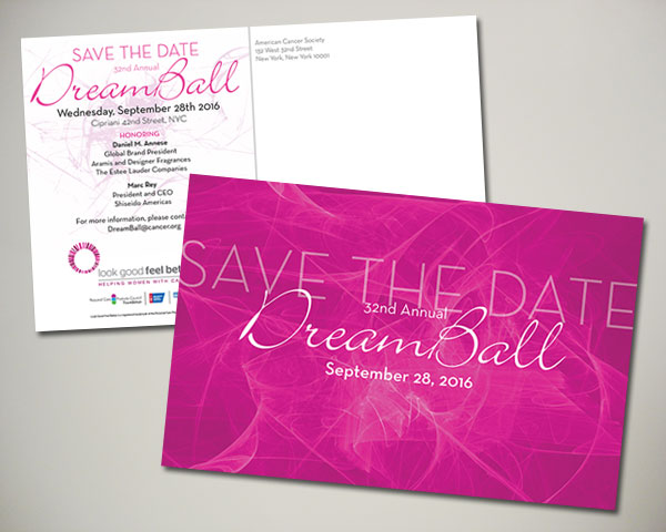 dreamball save the date non profit