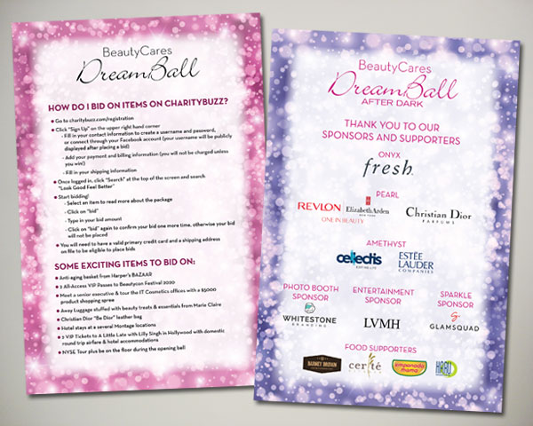 look good feel better beautycares dreamball afterdark day of sign signage design non profit