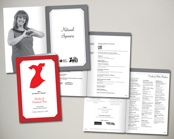 go red for women luncheon program book