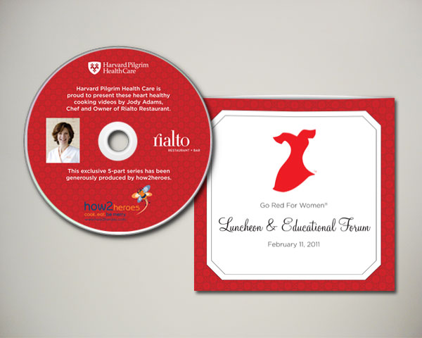 go red for women luncheon dvd packaging