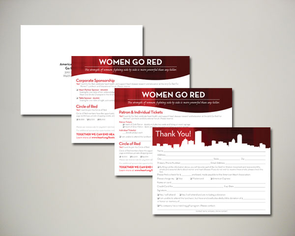 go red for women luncheon reply