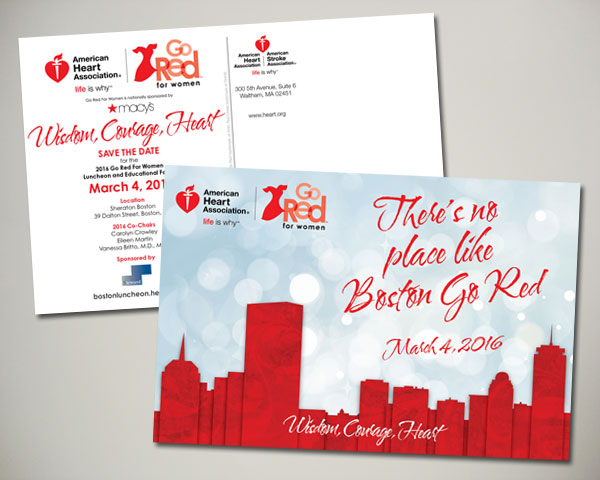 go red for women luncheon save the date