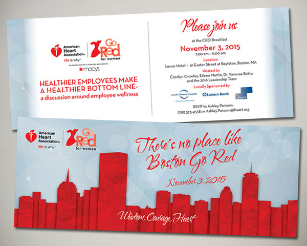 go red for women luncheon ceo breakfast invitation