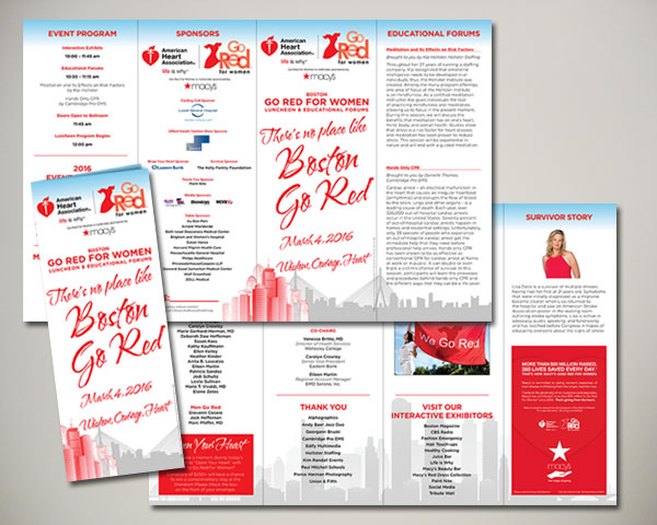 go red for women luncheon program