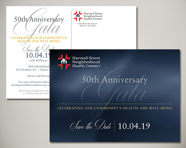 non profit harvard street health center gala save the date design