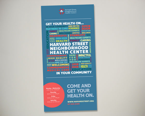 non profit harvard street health center open house banner design