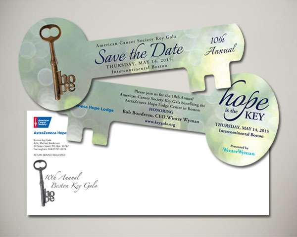 key gala save the date design