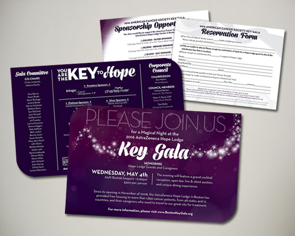 key gala invitation non profit design