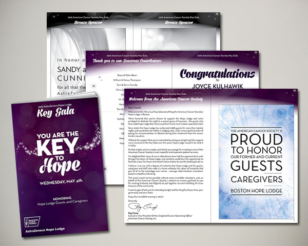 key gala program book non profit design