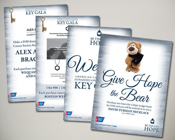 american cancer society key gala non profit sign design
