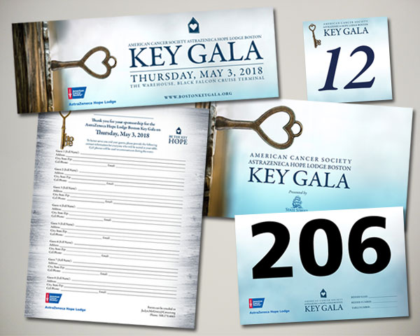 american cancer society key gala non profit design