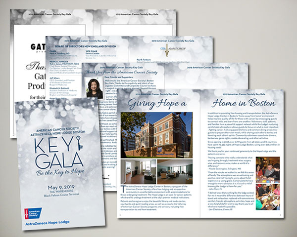american cancer society key gala non profit day of program handout design