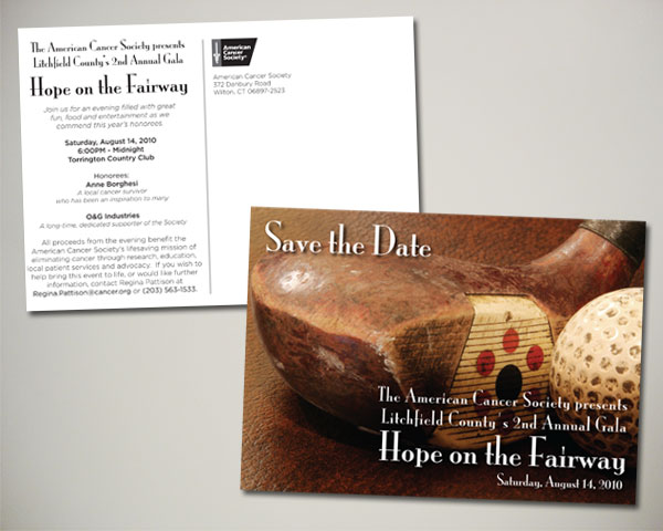 litchfield gala save the date postcard
