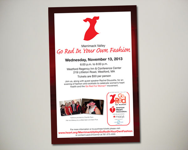 merrimack valley go red in your own fashion poster