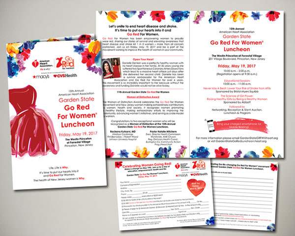 garden state go red for women luncheon invitation