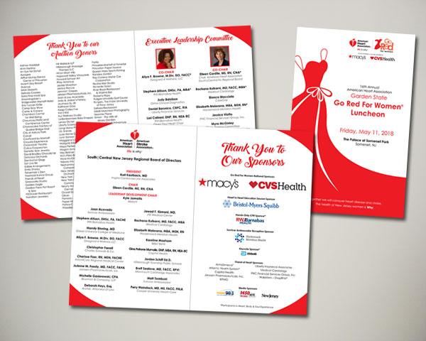 garden state go red for women luncheon pregram