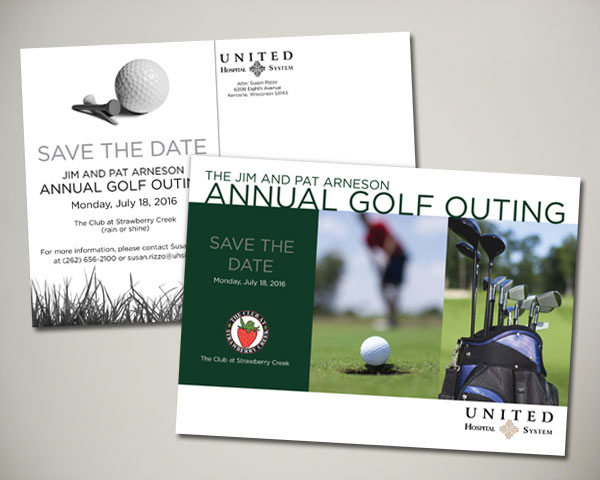 non profit golf outing save the date design