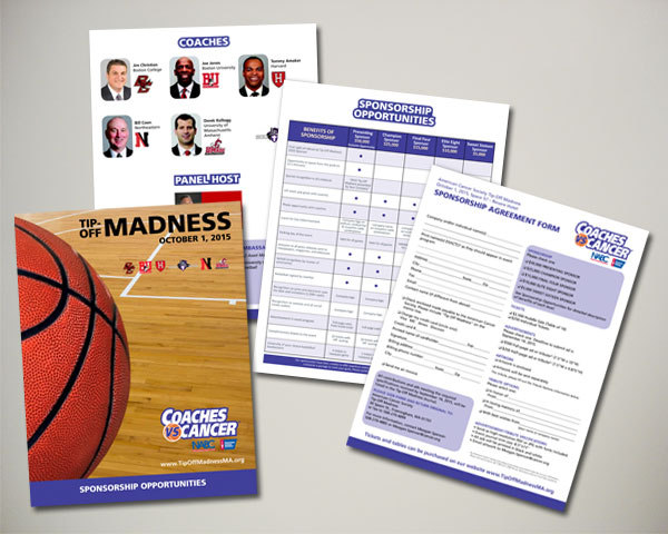 american cancer society non profit coaches vs. cancer sponsorship packet