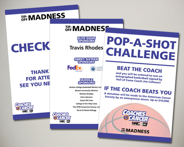 american cancer society non profit coaches vs. cancer signs