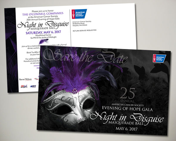 cancer society non profit evening of hope gala masquerade save the date
