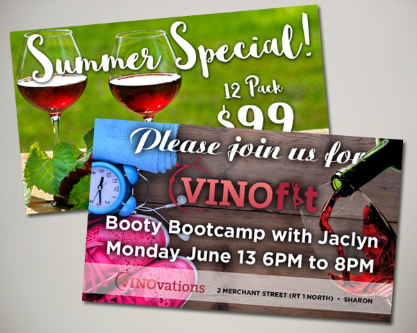 vinofit bootcamp summer wine special website banner design