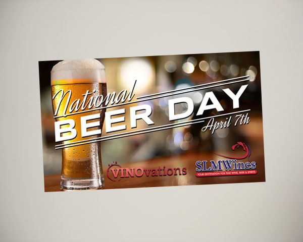 national beer day website banner design