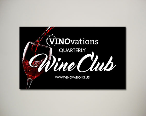 wine club website banner design
