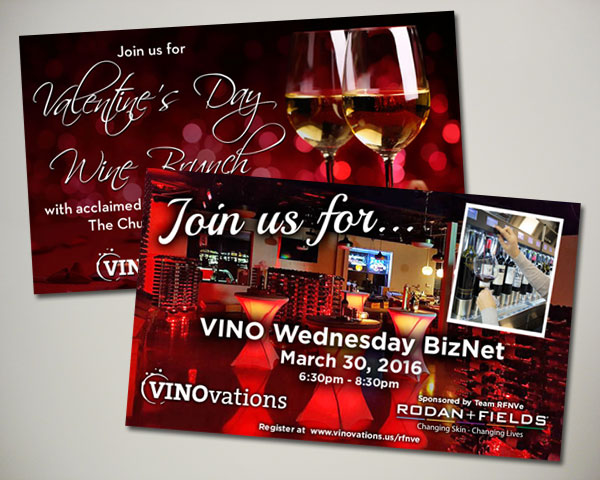 valentines day brunch wine website banner design