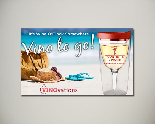 beach wine tumbler website banner design